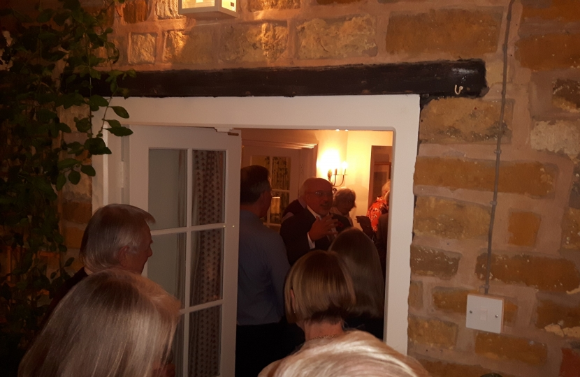 Nadhim Zahawi MP addresses a standing room only event in Brailes